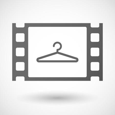 35mm: Illustration of a 35mm film frame with a hanger