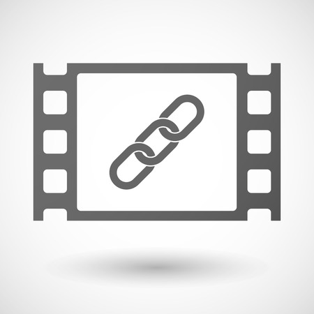 35mm: Illustration of a 35mm film frame with a chain