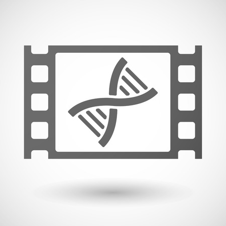 transgenic: Illustration of a 35mm film frame with a DNA sign