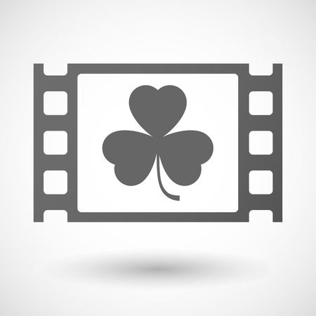 35mm: Illustration of a 35mm film frame with a clover