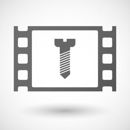35mm: Illustration of a 35mm film frame with a screw Illustration