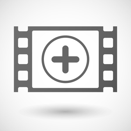 35mm: Illustration of a 35mm film frame with a sum sign