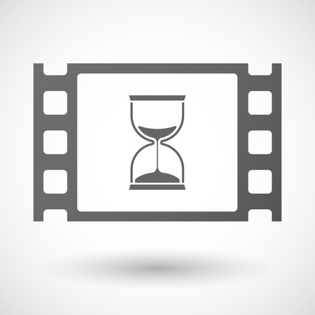 35mm: Illustration of a 35mm film frame with a sand clock