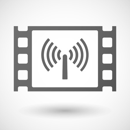 35mm: Illustration of a 35mm film frame with an antenna