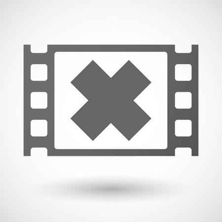 alerting: Illustration of a 35mm film frame with an irritating substance sign