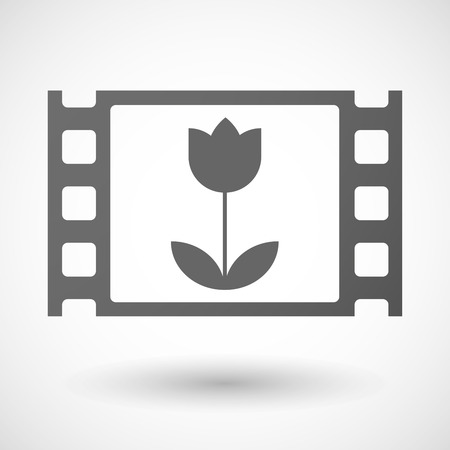 35mm: Illustration of a 35mm film frame with a tulip