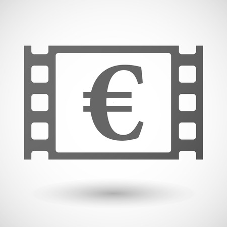 35mm: Illustration of a 35mm film frame with an euro sign