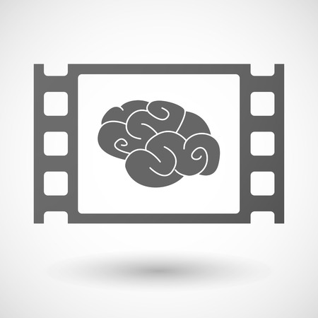 35mm: Illustration of a 35mm film frame with a brain