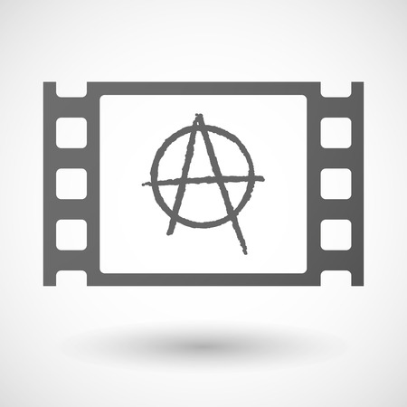 anarchy: Illustration of a 35mm film frame with an anarchy sign Illustration