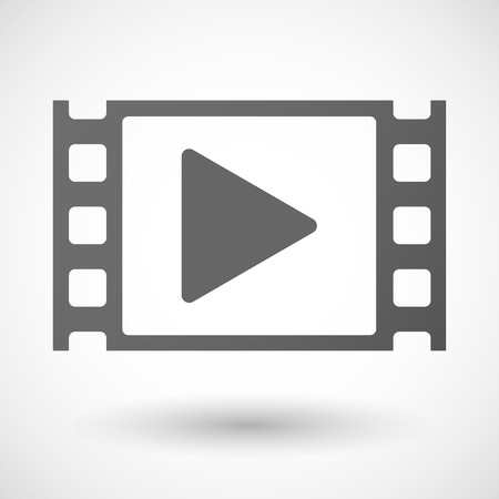 35mm: Illustration of a 35mm film frame with a play sign