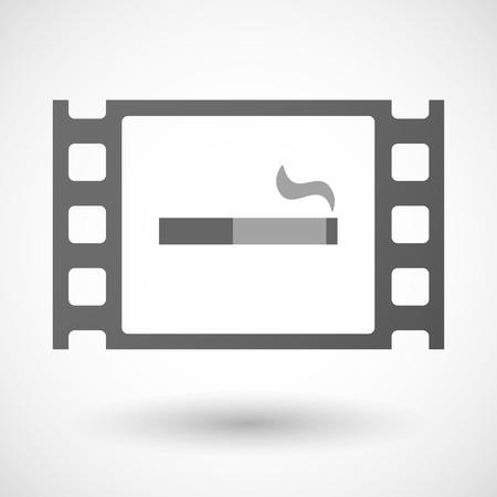 35mm: Illustration of a 35mm film frame with a cigarette