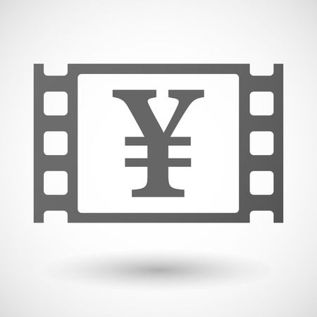 35mm: Illustration of a 35mm film frame with a yen sign