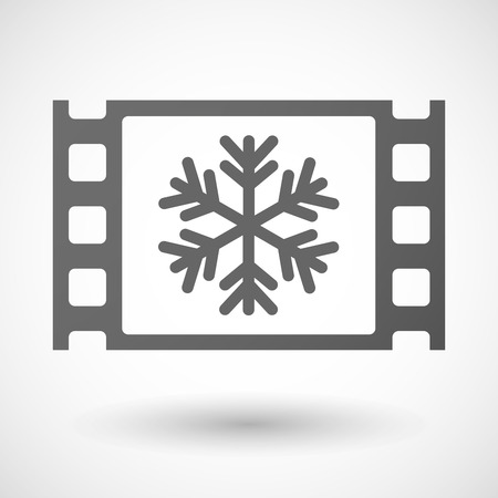 35mm: Illustration of a 35mm film frame with a snow flake