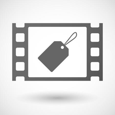 35mm: Illustration of a 35mm film frame with a label Illustration