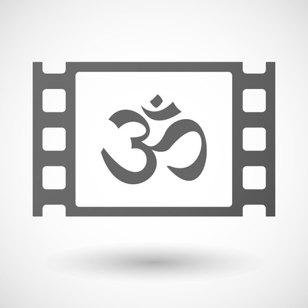 ohm symbol: Illustration of a 35mm film frame with an om sign