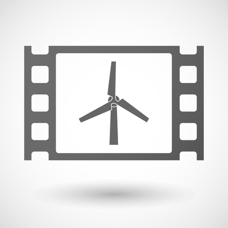 documentary: Illustration of a 35mm film frame with a wind generator Illustration