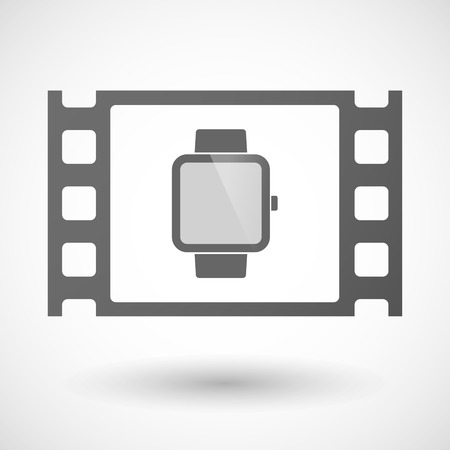 35mm: Illustration of a 35mm film frame with a smart watch