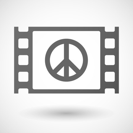 35mm: Illustration of a 35mm film frame with a peace sign