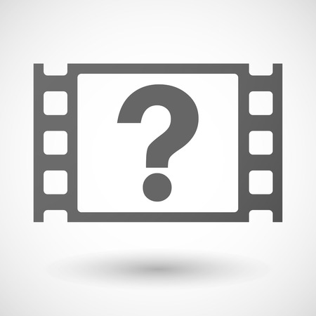35mm: Illustration of a 35mm film frame with a question sign