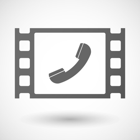 documentary: Illustration of a 35mm film frame with a phone Illustration