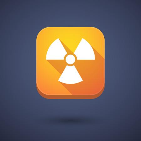 radio activity: Illustration of an app button with a radio activity sign Illustration