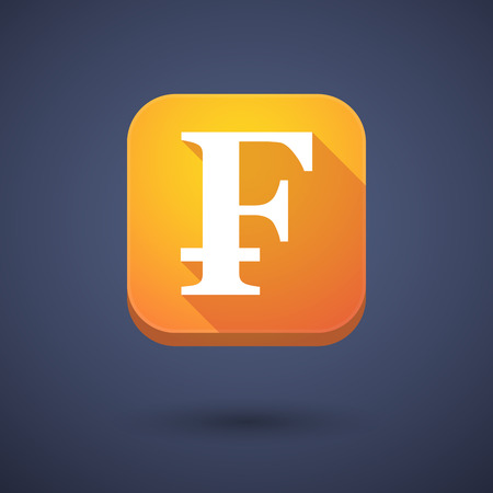 franc: Illustration of an app button with a swiss franc sign
