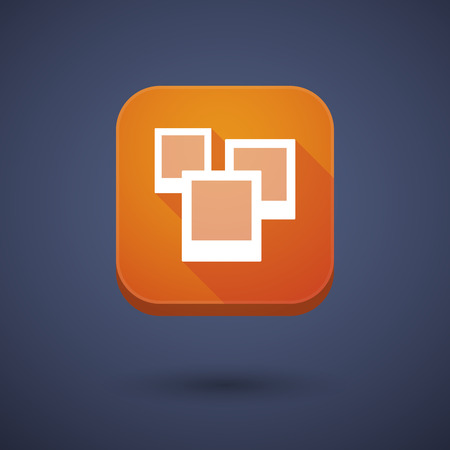 few: Illustration of an app button with a few photos Illustration