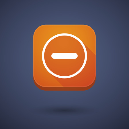 subtraction: Illustration of an app button with a subtraction sign Illustration