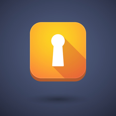 key hole: Illustration of an app button with a key hole Illustration