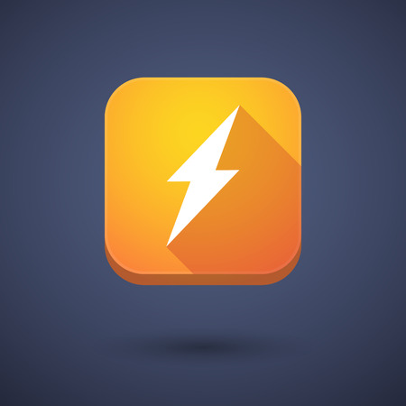 high tech: Illustration of an app button with a lightning