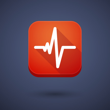 Illustration of an app button with a heart beat sign