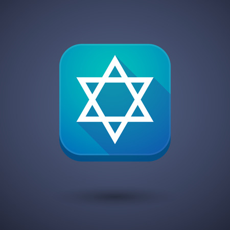 jews: Illustration of an app button with a David star