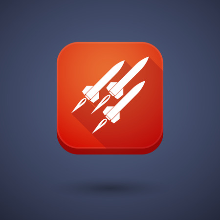 ballistic: Illustration of an app button with missiles