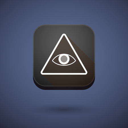 all seeing eye: Illustration of an app button with an all seeing eye