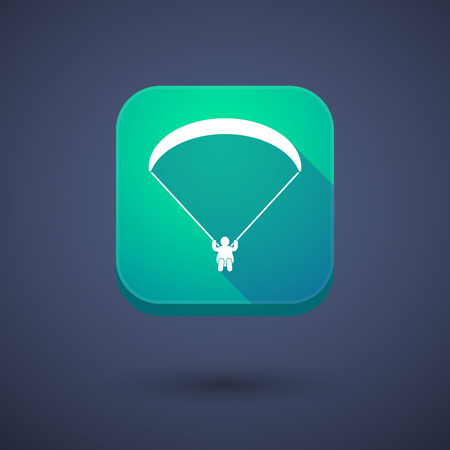 glide: Illustration of an app button with a paraglider