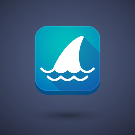 shark fin: Illustration of an app button with a shark fin