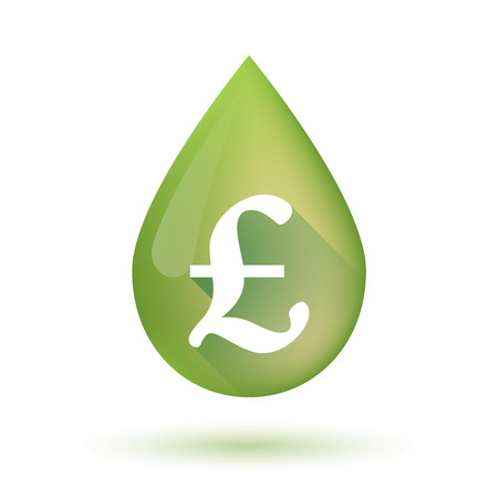 mediterranean diet: Illustration of an isolated olive oil drop icon with a pound sign