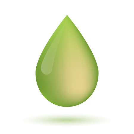 Illustration of an isolated olive oil drop icon Фото со стока - 42208185