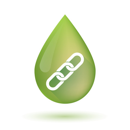 chain food: Illustration of an isolated Olive oil drop icon with a chain Illustration