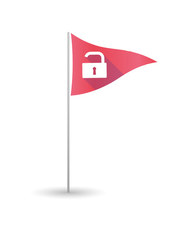 closed club: Illustration of a golf flag with a lock pad Illustration