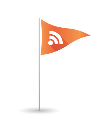 rss sign: Illustration of a golf flag with an RSS sign