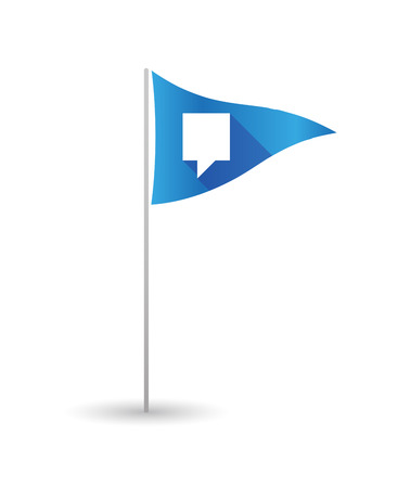 tooltip: Illustration of a golf flag with a tooltip