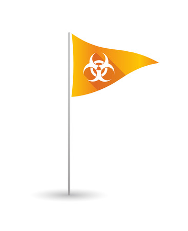 biohazard: Illustration of a golf flag with a biohazard sign Illustration