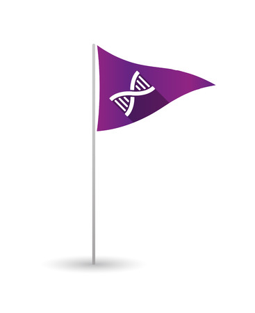 transgenic: Illustration of a golf flag with a DNA sign