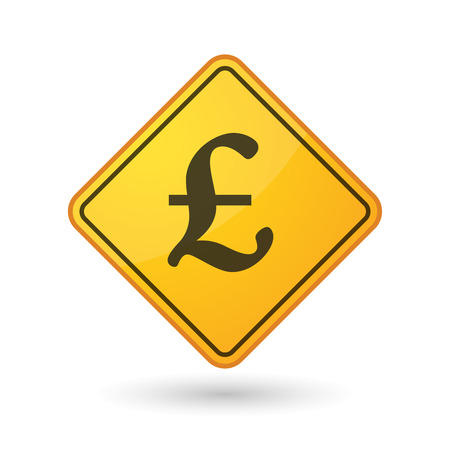 pound sign: Illustration of an awareness sign with a pound sign