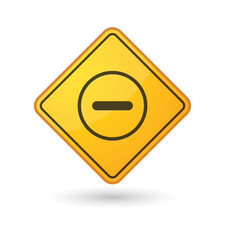 subtraction: Illustration of an awareness sign with a subtraction sign Illustration