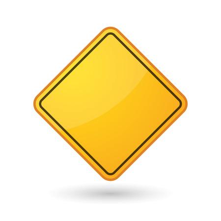 yellow beware: Illustration of an awareness sign Illustration