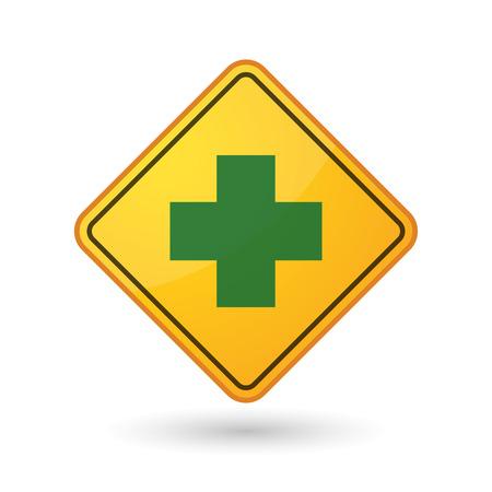 pharmacy sign: Illustration of an awareness sign with a pharmacy sign Illustration