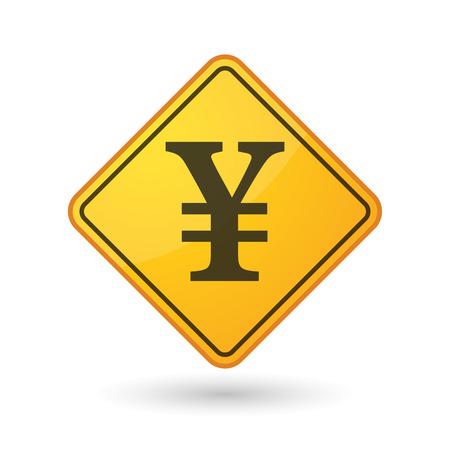 yen sign: Ilustraci�n de un signo de la conciencia con un signo de yenes