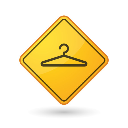 closet communication: Illustration of an awareness sign with a hanger Illustration